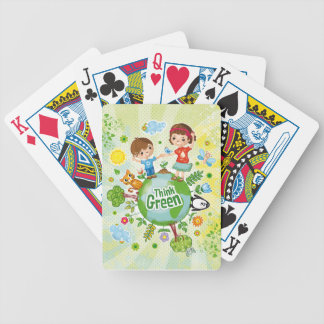 Think Green Eco Kids playing cards