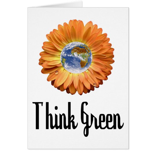 Think Green ecology products! Card