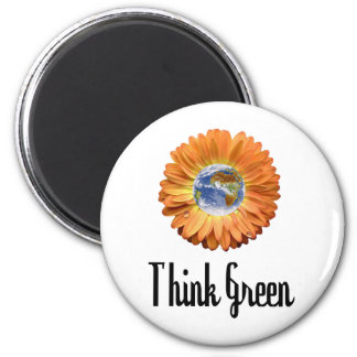 Think Green ecology products! Magnet
