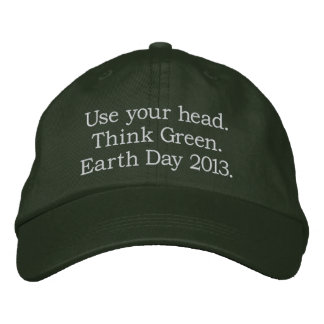 Think Green Embroidered Baseball Cap