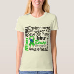 Think Green Environment Collage Tee Shirts