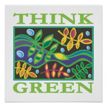 Think Green Environmental Poster