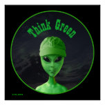 Think Green ET Poster