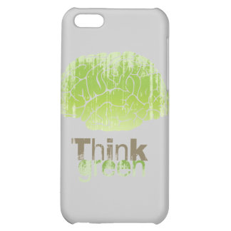 THINK GREEN Faded png Cover For iPhone 5C