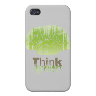 THINK GREEN Faded png iPhone 4/4S Cases