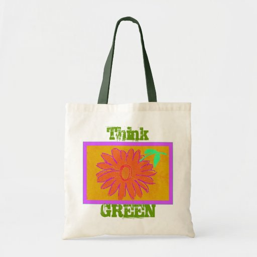 Think Green ~ Flower Tote Bag