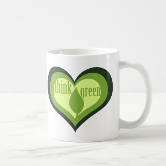 Think Green for Earth Day Coffee Mug