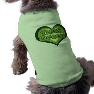 Think Green for Earth Day Environmentalist Doggie T Shirt