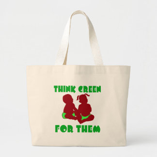 Think Green for Them Canvas Bag