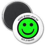Think green fridge magnet
