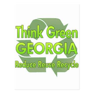 Think Green Georgia Postcard