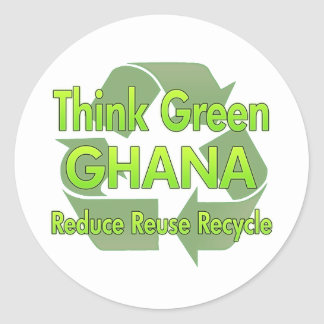 Think Green Ghana Stickers