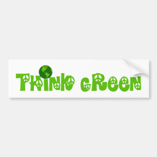 Think Green Globe Bumper Sticker