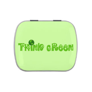Think Green Globe Jelly Belly Candy Tin