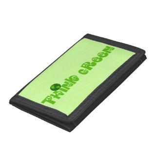 Think Green Globe Tri-fold Wallet