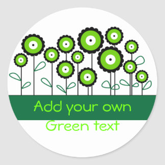 THINK GREEN GO GREEN CLASSIC ROUND STICKER