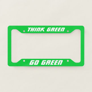 Think Green | Go Green | Eco Friendly Electric Car License Plate Frame