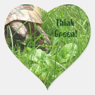 Think Green! Heart Sticker