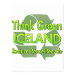 Think Green Iceland Post Cards