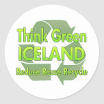 Think Green Iceland Stickers