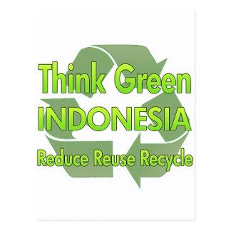 Think Green Indonesia Postcard