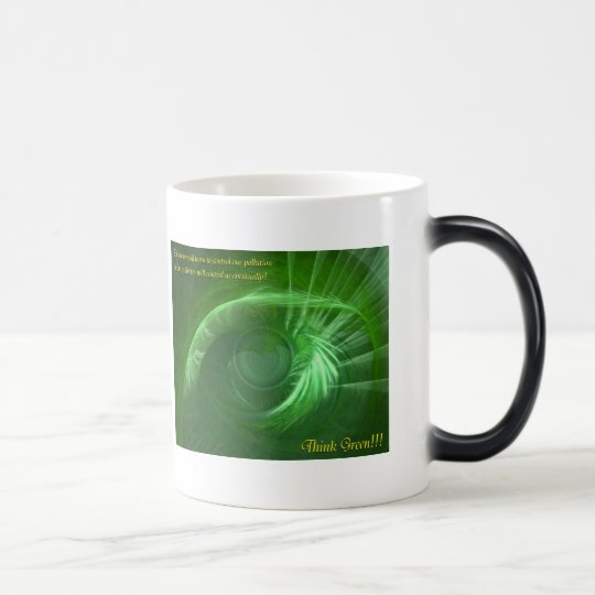 Think Green Inspirational Magic Mug