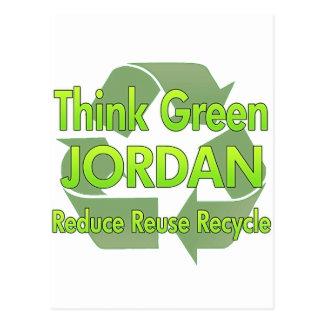 Think Green Jordan Postcards