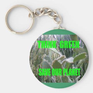 Think Green Key Chain