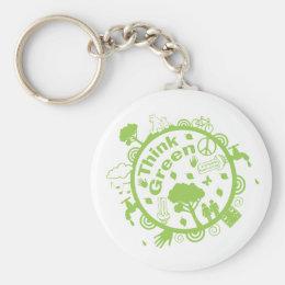 Think Green Key Ring