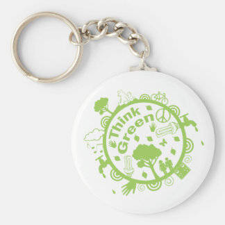 Think Green Key Ring