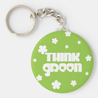 Think Green Keychain