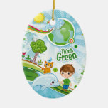 Think Green Kids Christmas Ornaments