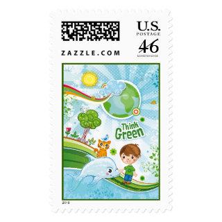 Think Green Kids Stamp