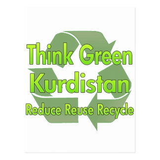 Think Green Kurdistan Postcard