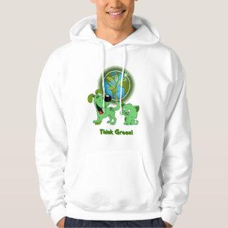 Think Green! (Leaf and Blade) Hoodie