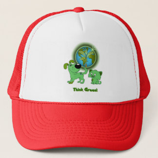 Think Green! (Leaf and Blade) Trucker Hat