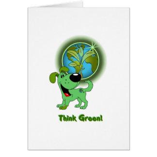 Think Green! - Leaf Greeting Card