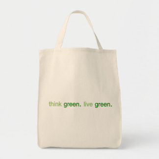 Think Green Live Green Tote Bag