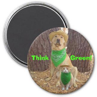 Think Green! Refrigerator Magnet