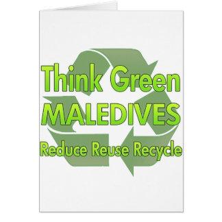 Think Green Maledives Greeting Card