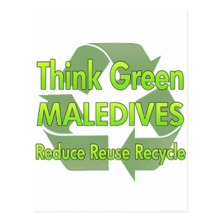 Think Green Maledives Postcard