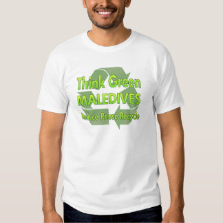 Think Green Maledives Tee Shirts