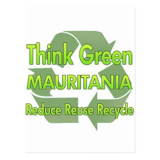 Think Green Mauritania Postcard