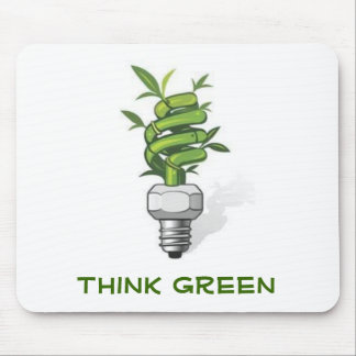 Think Green Mouse Pad