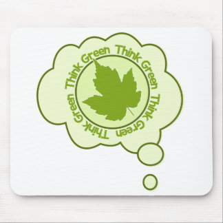 Think Green mousepad, customizable Mouse Pad