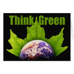 Think Green notecards Cards