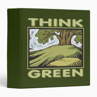 Think Green Oak Tree 3 Ring Binders