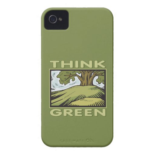 Think Green Oak Tree Case-Mate iPhone 4 Cases
