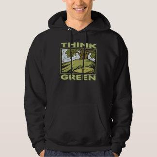 Think Green Oak Tree Hoodie
