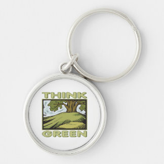 Think Green Oak Tree Key Chain